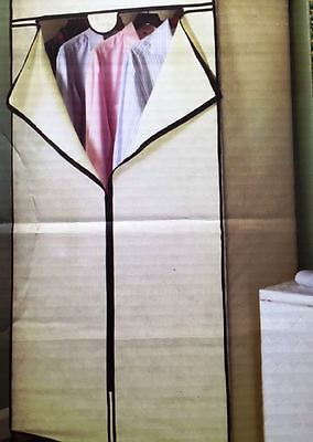 Brand New Storage Solutions Double Wardrobe Fabric Zip-Up - Cream