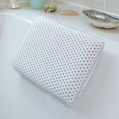 New BNIB Comfort White Waterproof Bath Pillow-Relax and Unwind - Neck Support
