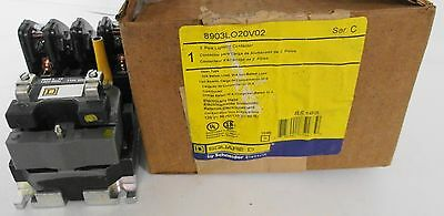 Square D 8903LO20V02  2 Pole Lighting Contactor