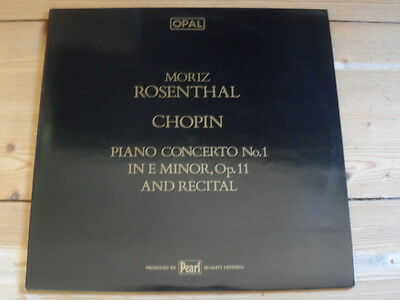 Moritz Rosenthal-Chopin-Piano Concerto No.1 in E Minor, op.11 and Recital-2er Lp