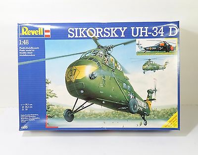Revell Sikorsky UH-34D 1:48 Scale Plastic Helicopter Model Kit #4485 Box