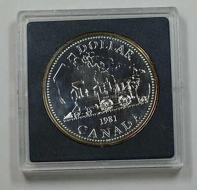 1981 Canada Silver Dollar Proof-like Coin Without Outer Cardboard Case