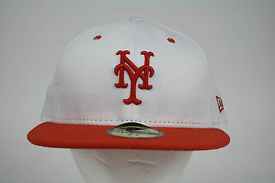 NEW ERA 59FIFTY Wool Standard New York Mets Orange Navy Fitted ... 0ef9d3e8ef9c