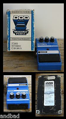 1990's DOD FX 65 STEREO CHORUS - Made in USA guitar effect pedal