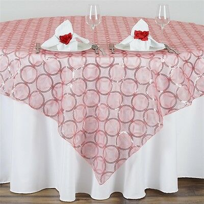 """24 x Wholesale Lot CIRCLE SEQUIN 14x108"""" TABLE RUNNERS Wedding Party Decorations"""