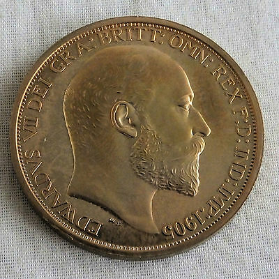 Wales 1905 Edward Vii Golden Proof Pattern Crown