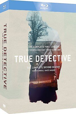 True Detective: The Complete Series Season 1 and 2 Blu Ray Box Set - Brand New