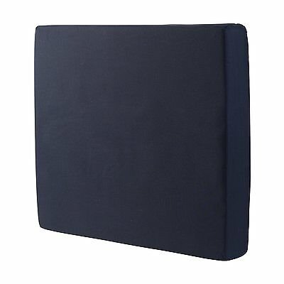 Duro-Med Foam Seat Wheelchair Cushion with Cover Navy 4 Inch x 16 Inch x 18 Inch