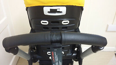 2 Zip On Faux Leather Handle Bar Covers For Bugaboo Bee Plus/3/