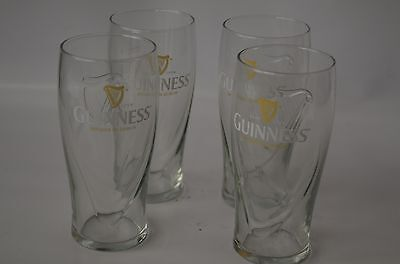 Guiness 20 oz. Beer Glass. New Set of 4