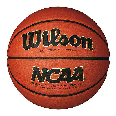 WILSON NCAA REPLICA GAME Basketball ,  COMPOSITE LEATHER FULL SIZE 7