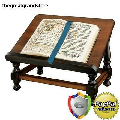 Wooden Book Easel Antique Stand Holder Portable Reading Bookstand Bible Desk NEW