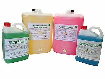 Concentrated Industrial Strength Disinfectant 5L -11 Fragrances - Free Shipping