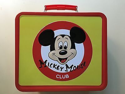 Retro Metal Mickey Mouse Mouseketeer Lunchbox - New - Reproduction