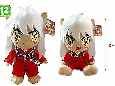 "2 Pcs InuYasha 12"" Stuffed Plush Doll Toy With Tag Hot Sold Christmas Gift"