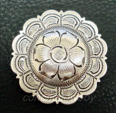 Set of 6 WESTERN HORSE TACK LEATHER CRAFT CONCHO ANTIQUE FLOWER CONCHOs 1 INCH