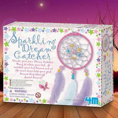 Make Your Own Dream Catcher Kit | doily feathered bead toy kids bedroom decor