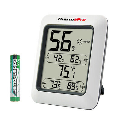 ThermoPro Digital Hygrometer LCD Indoor Thermometer Temperature Humidity Meter