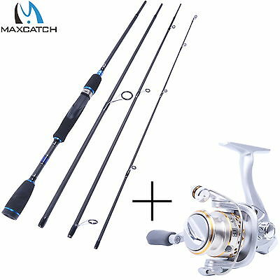 """Spinning Combo 6'9""""  4pcs Graphite Spinning Fishing Rod with Spinning Reel"""