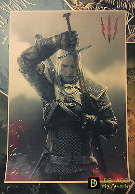 The Witcher 3 Geralt Vintage Style Home Decor Poster Wall Painting 42*29.7cm