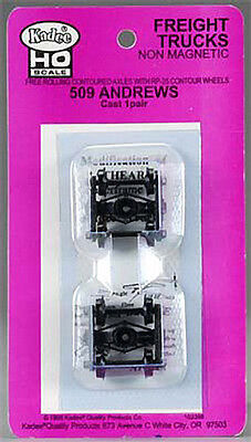 1 pair Kadee® Standard Andrews Freight Trucks - Made in USA  HO #509