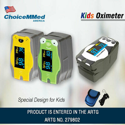 Pediatric Fingertip Pulse Oximeter For Kids baby with Adorable Animal Theme SPO2