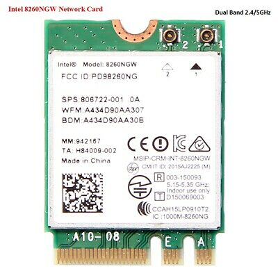 Intel Dual Band Wireless AC 8260 8260NGW NGFF 802.11AC BT4.2 Wifi Card 867Mbps