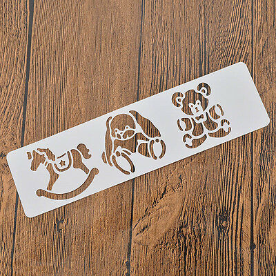 Spray Painted Drawing Stencils Dog Template Scrapbooking Tool Hobbyhorse