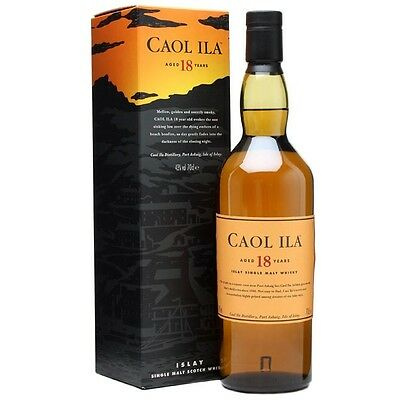 Caol Ila 18 Year Old Scotch Whisky 700mL