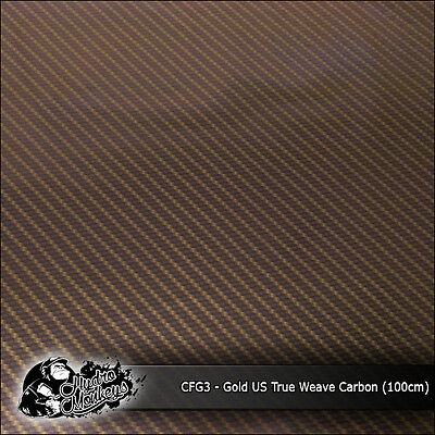 1m of Gold US True Weave Carbon Fibre 100cm hydrographics water transfer film