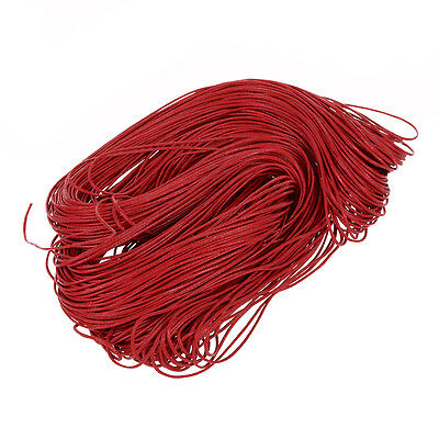 45 meters Waxed Cotton Cord Lacing - Red S*