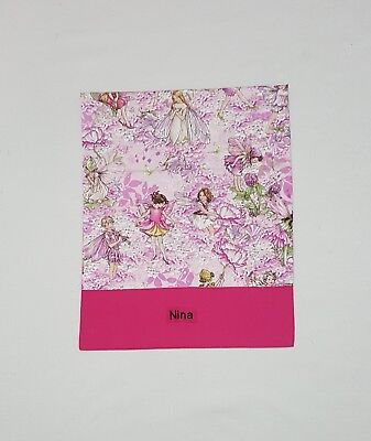 Free Name Petal Flower Fairy Personalised Embroidery Library Bag Kinder Fd