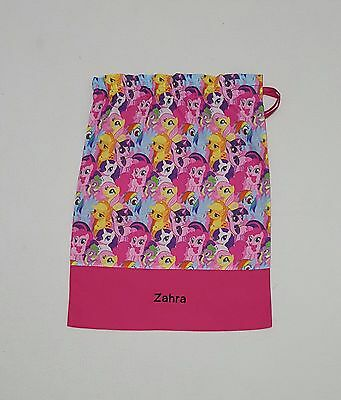 $Free Name My Little Pony Model 3 Personalised Embroidery Library Bag Kinder Fd