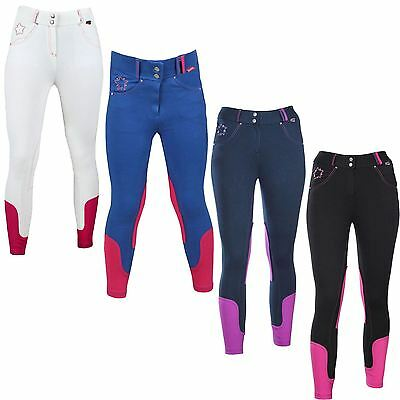 Red Horse Equestrian Girls Kids Rh Carmen Slimfit Elastico Riding Event Breeches