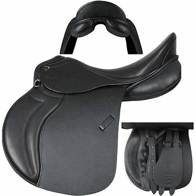 Horka Equestrain Farao Luxury Double Leather Extra Grip Synthetic Wool Saddle