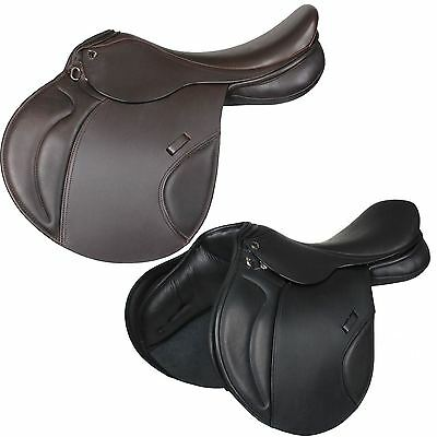 Horka Equestrian Bon Jump Leather Easy Fit Comfortable Seat Horse Riding Saddle
