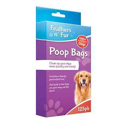 125 DOGGY BAGS Pet Pooper Scooper Bag Dog Cat Poo Waste Toilet Poop OTL
