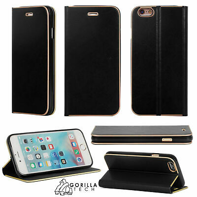 ULTRA SLIM LEATHER FLIP WALLET BOOK STAND CASE COVER FOR iPHONE & SAMSUNG GALAXY