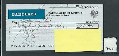 wbc. - CHEQUE - CH329- USED - 1976 - BARCLAYS BANK - DERBY