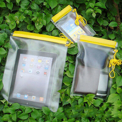 3Pcs Underwater Waterproof Bag Pouch Dry Cover Case For Phone Camera Document