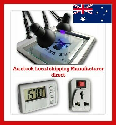 Swing type Simple UV Exposure Unit for Screen Plate Making with 2 Holders&Tubes