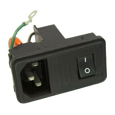 Snap-In IEC Power Entry Socket Switch Fuse Filter 115/250Vac 6 Amp Schaffner
