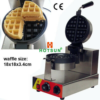 Commercial Nonstick Electric Rotating Belgian Liege Waffle Maker Iron Machine