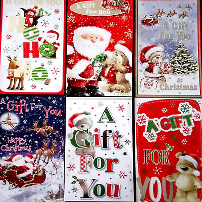 6 Cute Christmas Money Wallets. Self Sealing Money Wallets for Xmas. Free p+p