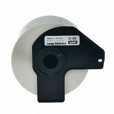 1 Roll White DK 1208 Address Label For Brother DK1208 QL-500 550 570 580N 700
