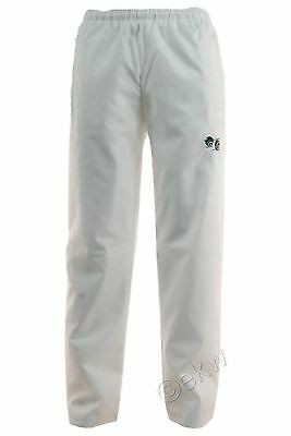 White waterproof lawn bowling trousers with pockets - Size small - XL