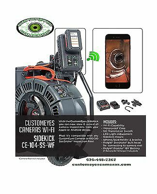 Ridgid Seesnake Max Reel 42348 and Customyeyes CE-104-SS-WF