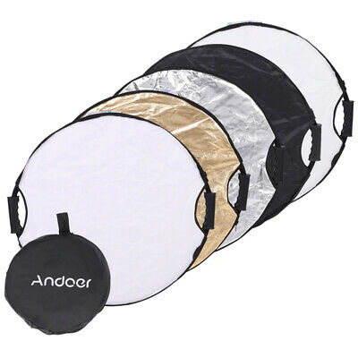 Andoer 5 in 1 Portable Photography Studio Disc Round Reflector 60cm Collapsible