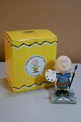 Charlie Brown Around Town Charles Schultz Tribute Figurine Autographed by Artist