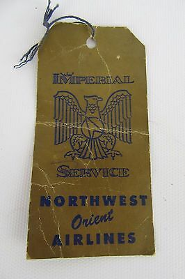 1958 Northwest Orient Airlines Luggage Tag